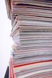 Pila de los periódicos Foto de archivo libre de regalías