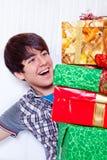 Pila de los regalos Foto de archivo libre de regalías