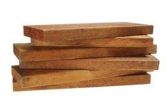 Pila de los tablones de madera Imagen de archivo