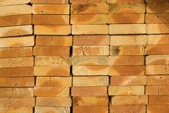 Pila de los tablones de madera Fotografía de archivo libre de regalías