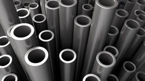 Pila de los tubos de acero Fotos de archivo libres de regalías
