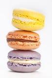 Pila de macarons Imagen de archivo