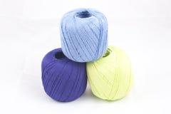 Pila de madejas coloridas Fotografía de archivo