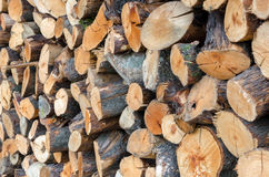 Pila de madera Fotografía de archivo libre de regalías