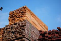 Pila de madera Fotos de archivo libres de regalías