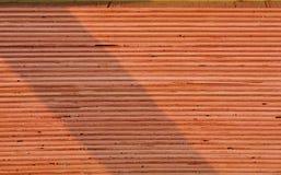 Pila de madera contrachapada del pino apilada muy cuidadosamente imagen de archivo