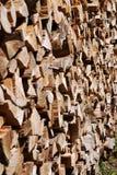 Pila de madera cutted Foto de archivo libre de regalías