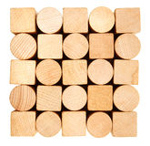 Pila de madera de construcción Imágenes de archivo libres de regalías