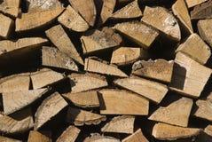 Pila de madera del registro Fotografía de archivo