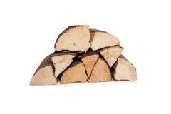 Pila de madera dura secada Foto de archivo libre de regalías