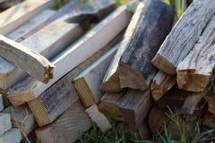 Pila de madera para el fuego Fotos de archivo libres de regalías
