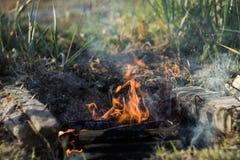 Pila de madera para el fuego Foto de archivo