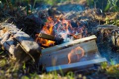 Pila de madera para el fuego Fotos de archivo