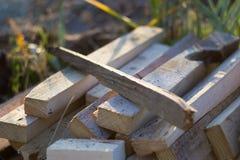 Pila de madera para el fuego Fotografía de archivo