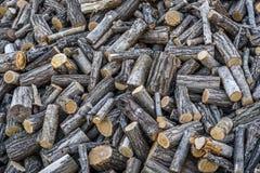Pila de madera tajada Fotografía de archivo