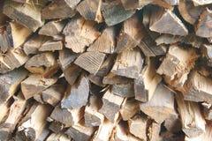 Pila de madera tajada del fuego Imagen de archivo libre de regalías
