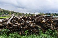 Pila de maderas Fotografía de archivo