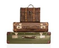 Pila de maletas del vintage Imágenes de archivo libres de regalías
