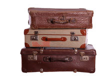 Pila de maletas viejas Fotos de archivo