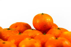 Pila de mandarinas frescas Fotografía de archivo libre de regalías