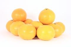 Pila de mandarines Fotografía de archivo