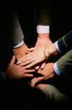 Pila de manos Imagen de archivo libre de regalías
