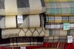Pila de mantas Imagen de archivo