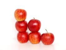 Pila de manzanas Imágenes de archivo libres de regalías