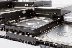Pila de discos duros Foto de archivo libre de regalías