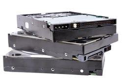 Pila de mecanismos impulsores duros del ordenador Fotografía de archivo libre de regalías