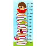 Pila de medida de la altura de los libros libre illustration