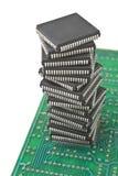 Pila de microchipes Fotografía de archivo libre de regalías