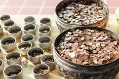 Pila de moneda tailandesa Fotografía de archivo libre de regalías
