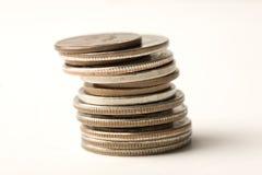Pila de monedas Imagen de archivo libre de regalías