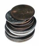 Pila de monedas Fotografía de archivo libre de regalías
