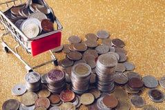 Pila de monedas Fotos de archivo