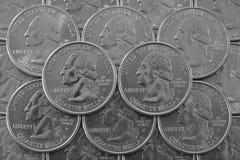 Pila de monedas de los E.E.U.U. Imagen de archivo libre de regalías