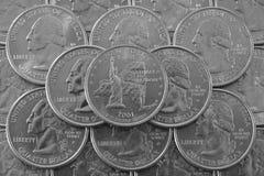 Pila de monedas de los E.E.U.U. Fotos de archivo