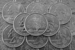 Pila de monedas de los E.E.U.U. Imagen de archivo