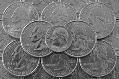 Pila de monedas de los E.E.U.U. Fotografía de archivo