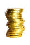 Pila de monedas de oro Fotos de archivo