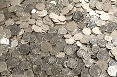 Pila de monedas del efectivo Foto de archivo libre de regalías