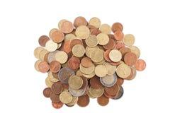 Pila de monedas euro Foto de archivo libre de regalías