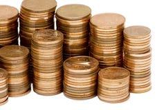 Pila de monedas euro del centavo Fotos de archivo libres de regalías