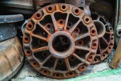 Pila de mucho motor viejo usado parts#2 Imagen de archivo libre de regalías
