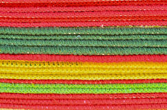 Pila de muestras de la alfombra Fotografía de archivo libre de regalías
