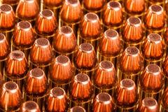 Pila de munición de la pistola Fotos de archivo