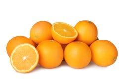 Pila de naranjas maduras imagen de archivo