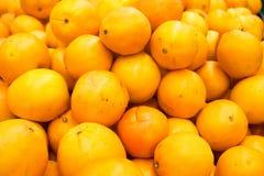 Pila de naranjas y de mandarines frescos Imagen de archivo libre de regalías