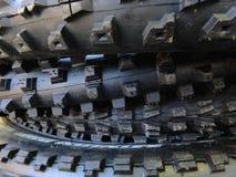 Pila de neumáticos del mtb Fotografía de archivo libre de regalías